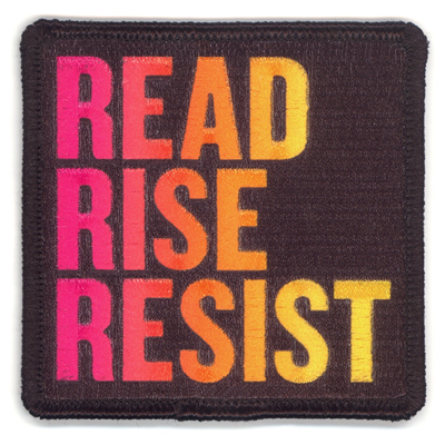 Read Rise Resist Pink Yellow Embroidered Patch