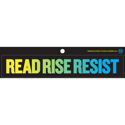 Read Rise Resist Yellow Blue Sticker