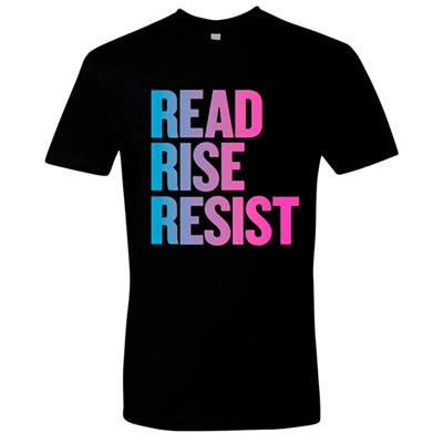 Read Rise Resist Blue Pink Sticker