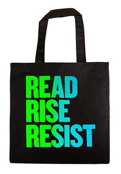 Read Rise Resist Green Blue Tote