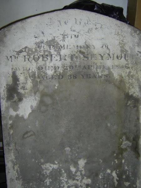 Robert Seymour's Tombstone