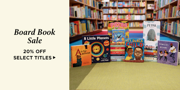 Save 20% on bestselling new board books for kids