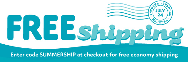 Free Shipping: Enter code SUMMERSHIP at checkout for free economy shipping