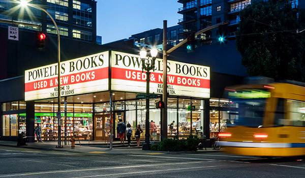 Exterior of Powell's City of Books