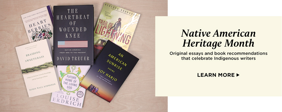 Native American Heritage Month - original essays and book recommendations that celebrate Indigenous writers