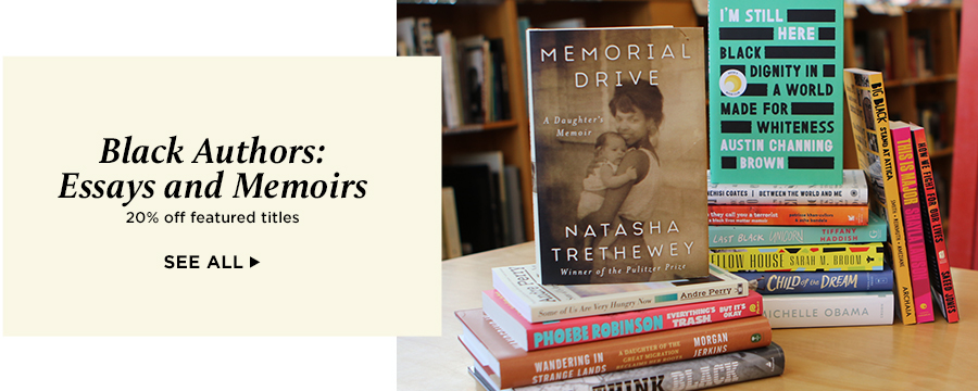 Save 20% on select essays and memoirs by Black authors