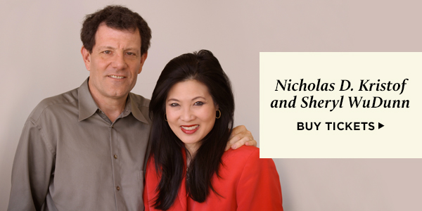 Nicholas D. Kristof and Sheryl WuDunn - Buy tickets