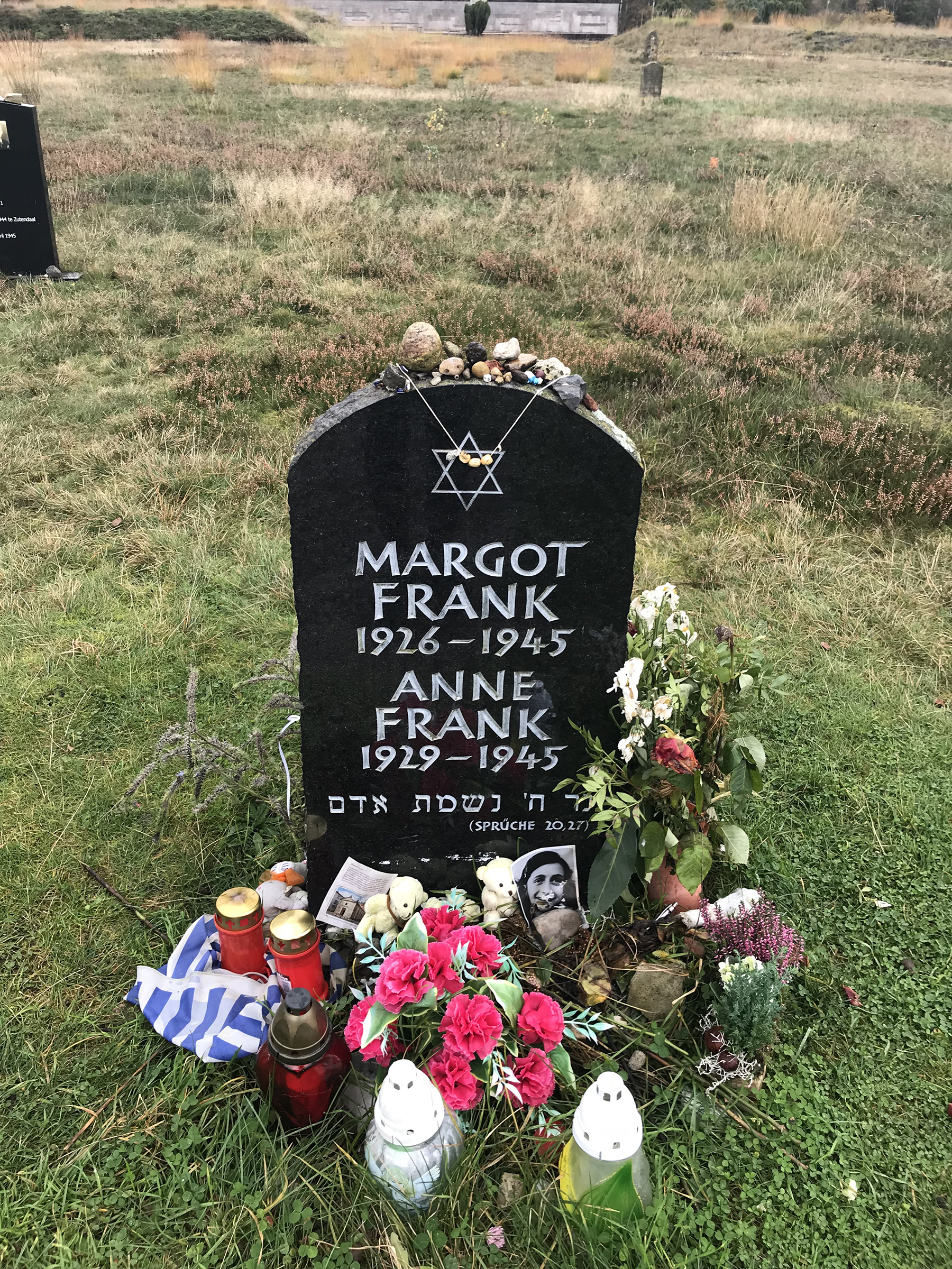 Margot and Anne Frank's tombstone.