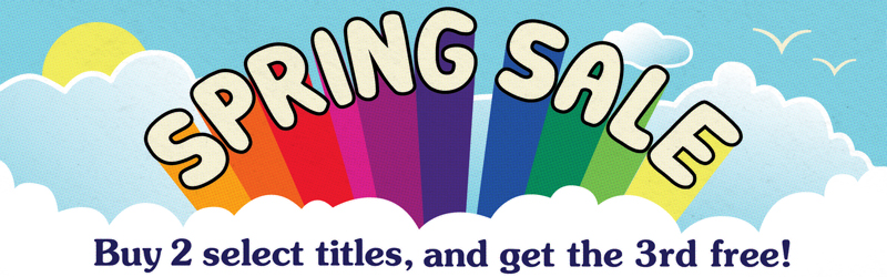 Spring Sale: Buy 2 select titles, and get the 3rd free!