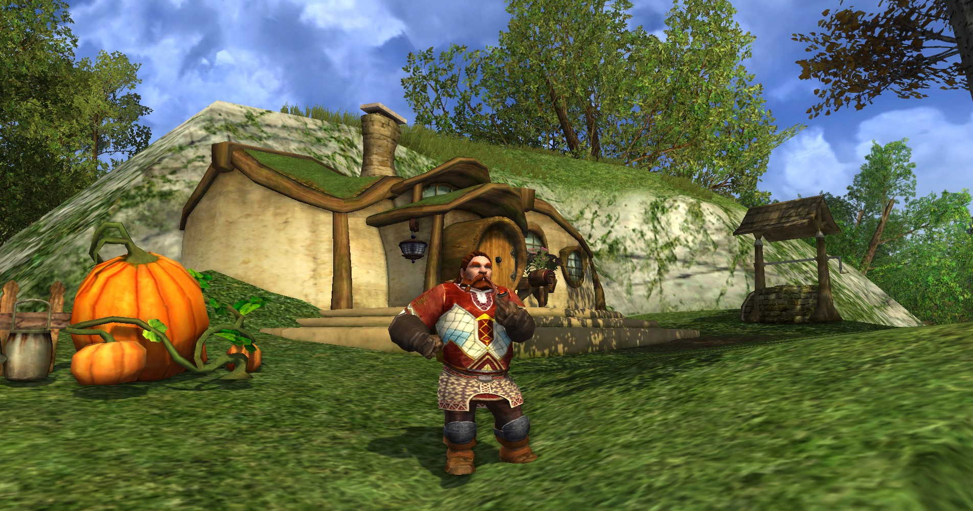 Gimli from the Lord of the Rings Online game.