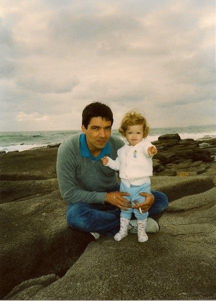 Papi and I.