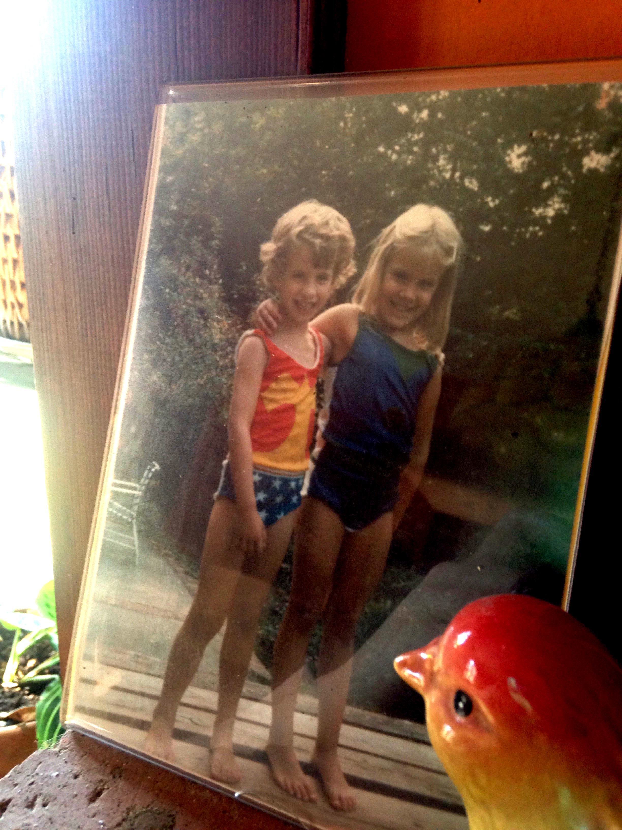 IMG: The author and her sister as  children.