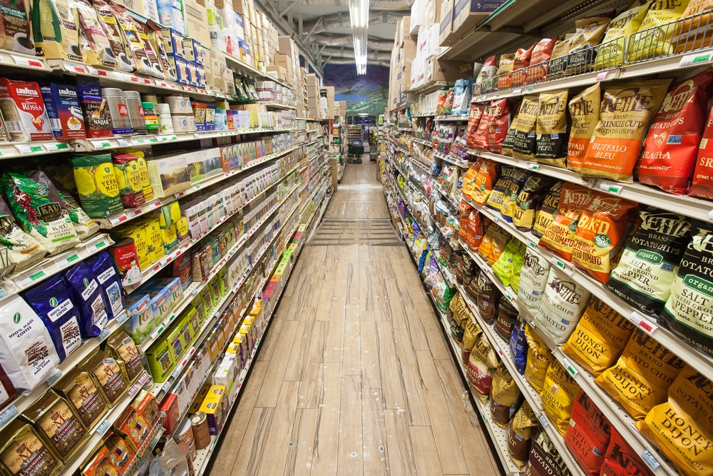 A grocery store aisle.