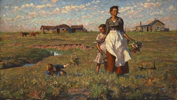 (The Prairie is My Garden), 1950, Harvey Dunn, image courtesy South Dakota Art Museum.