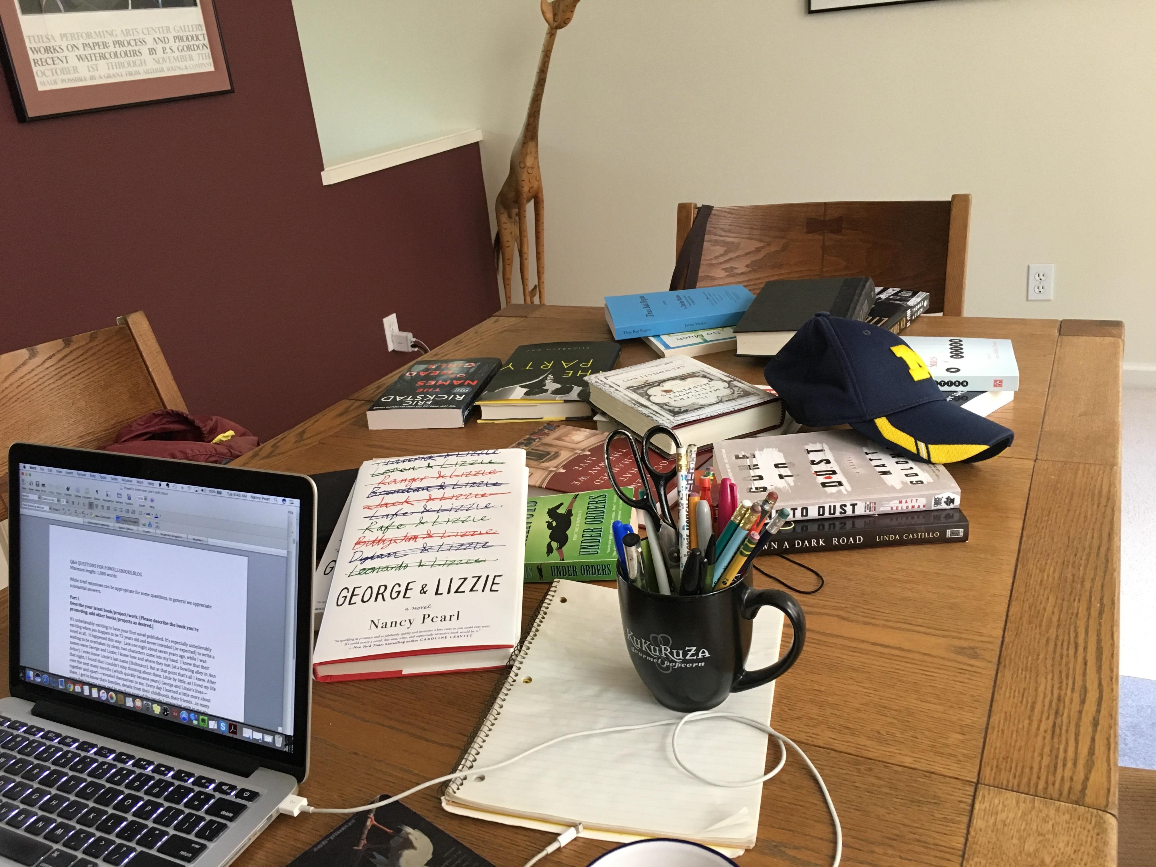 IMG: Nancy Pearl's workspace.