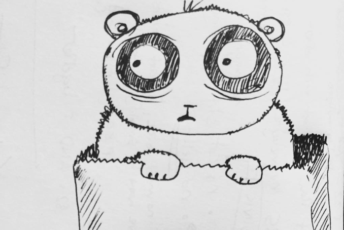 A sketch of a panda.