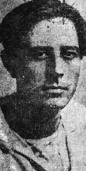 Edgar Laplante, photographed in New York City, August 1917.