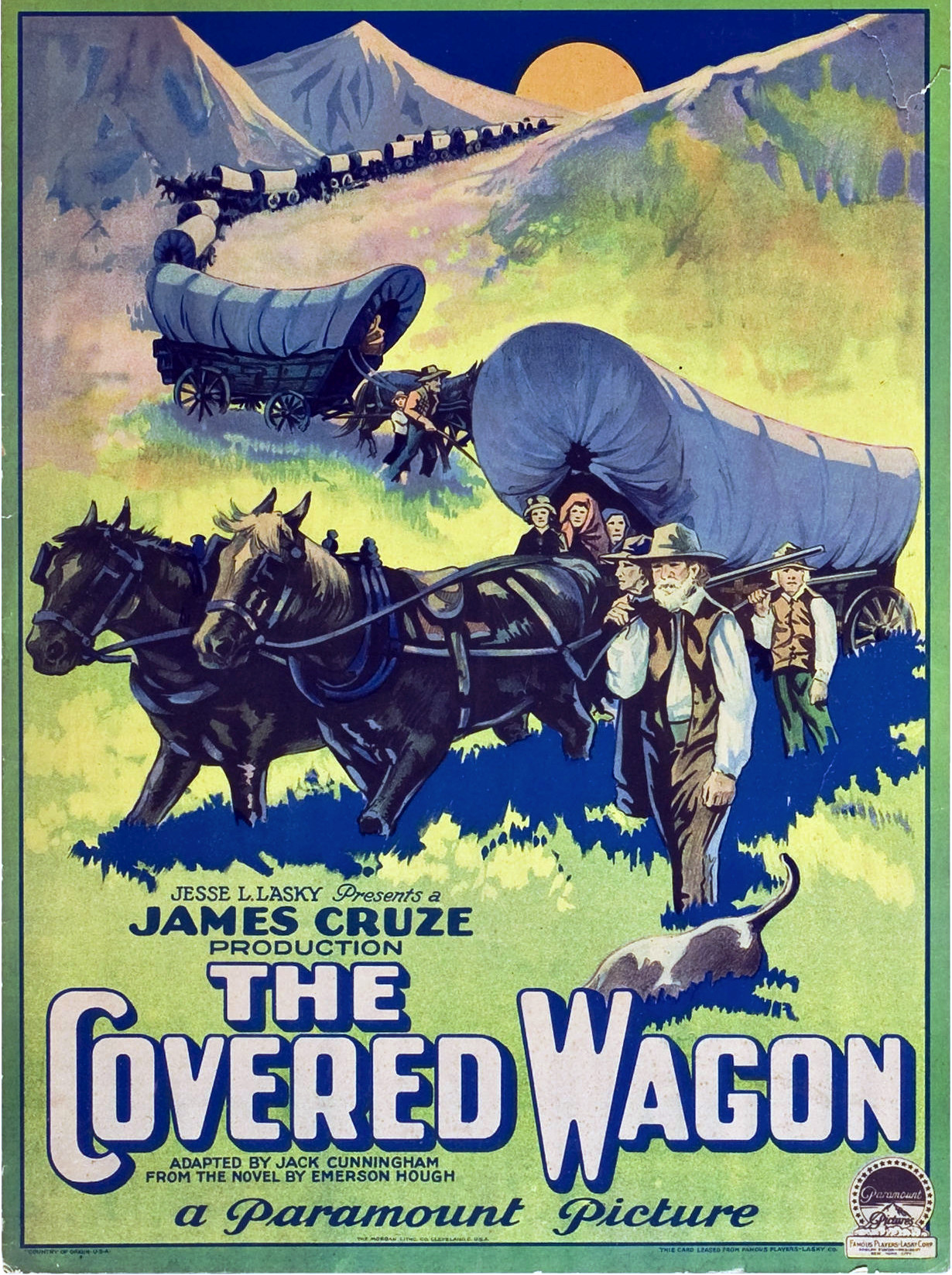 Poster for the hit 1924 movie that Edgar Laplante helped to promote, alongside a troupe of genuine Arapaho.