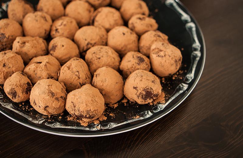 Chocolate Apricot Habanero Truffles