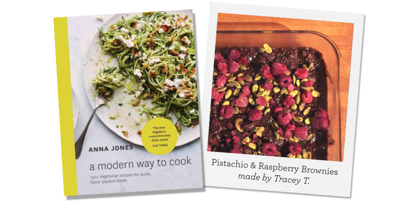 A Modern Way to Cook; Pistachio & Raspberry Brownies made by Tracey T.