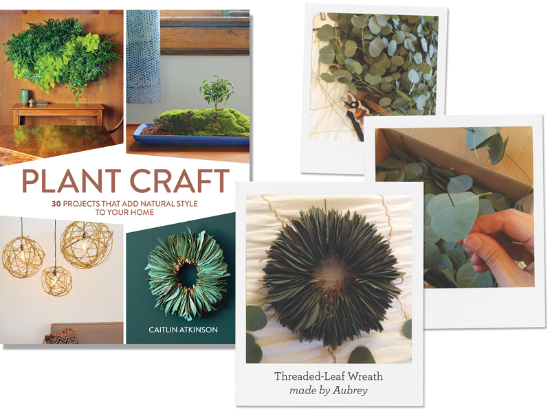 Threaded-Leaf Wreath from Plant Craft by Caitlin Atkinson