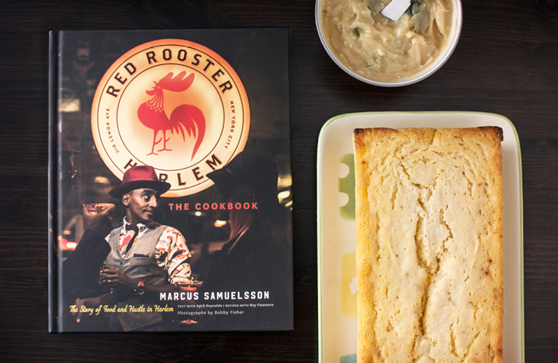 Corn Bread with Sage and Honey Butter from Red Rooster Cookbook