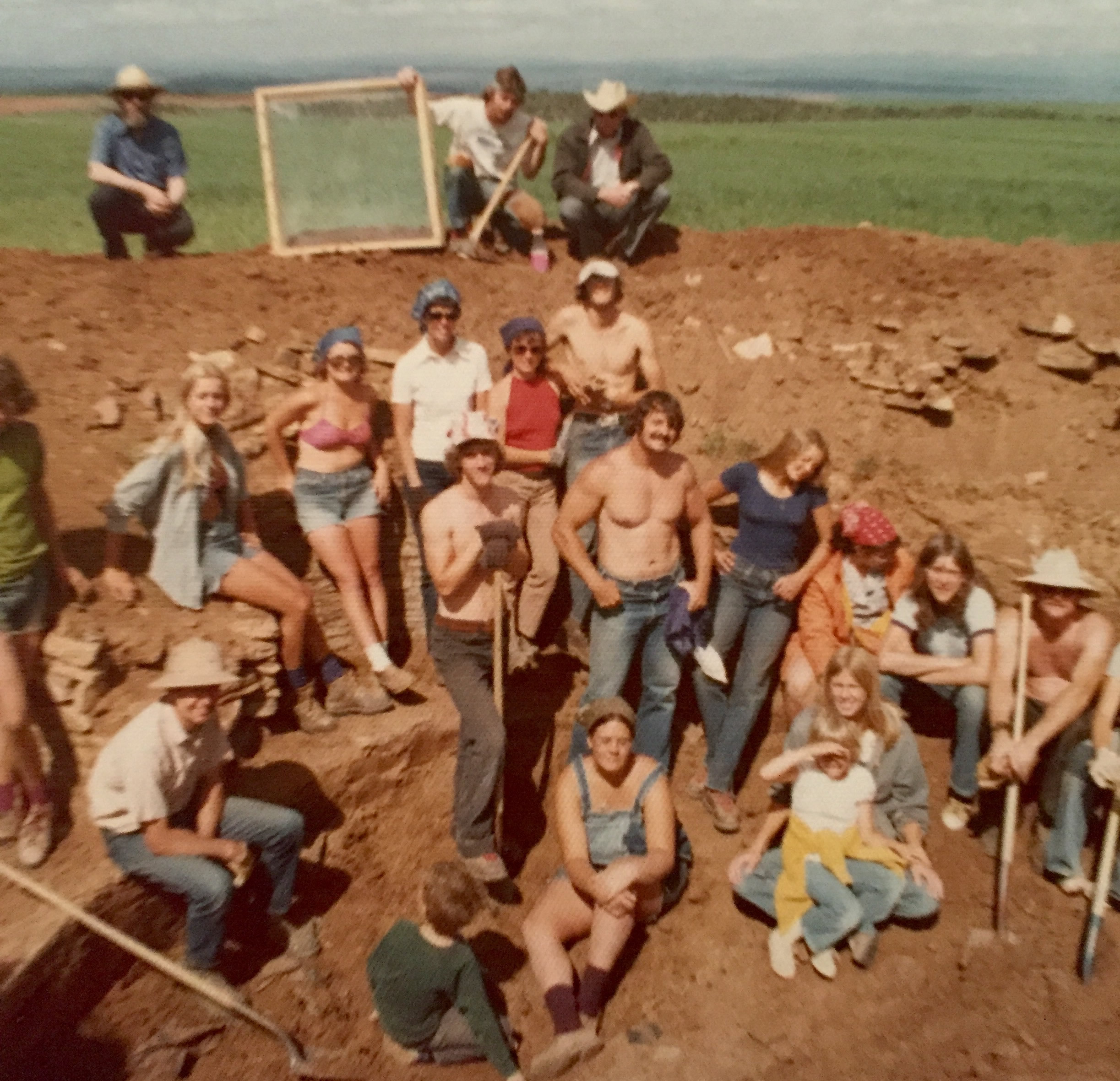 Photo: A dig site.