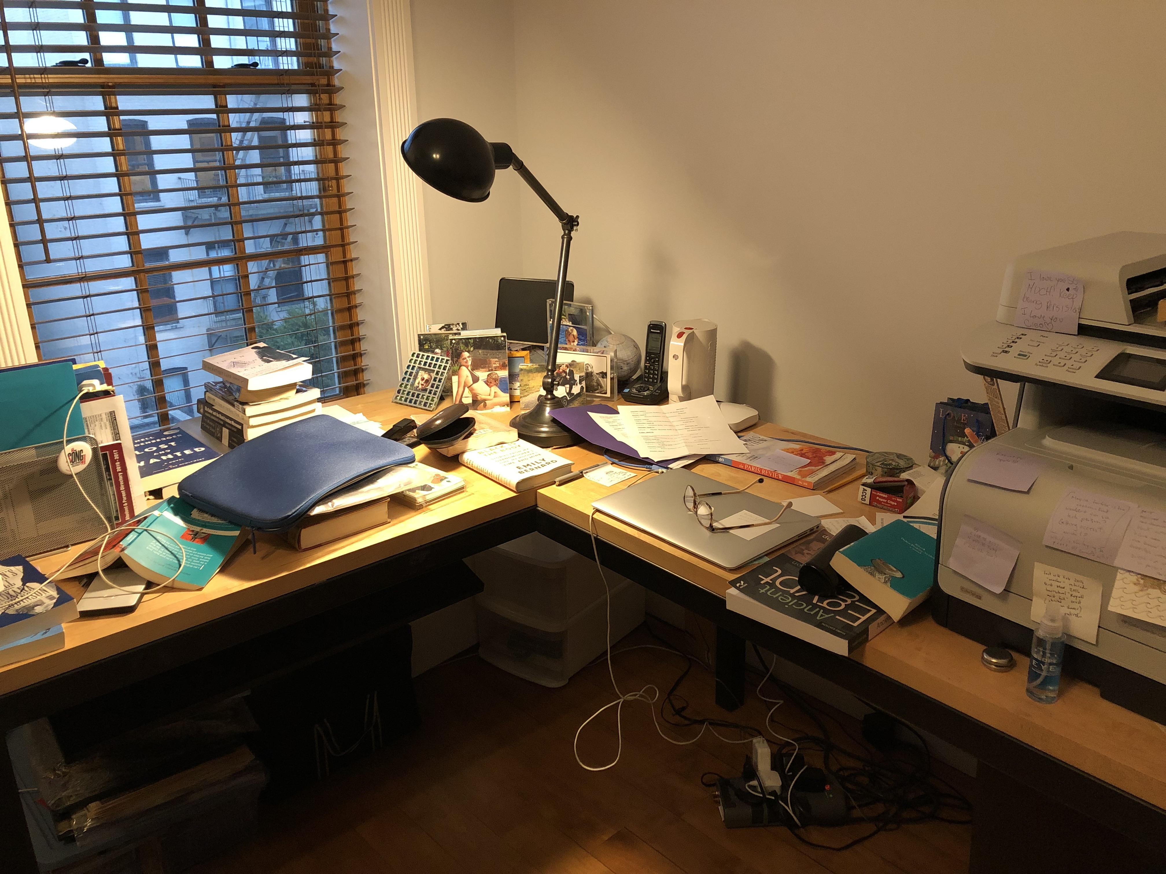 The author's desk.