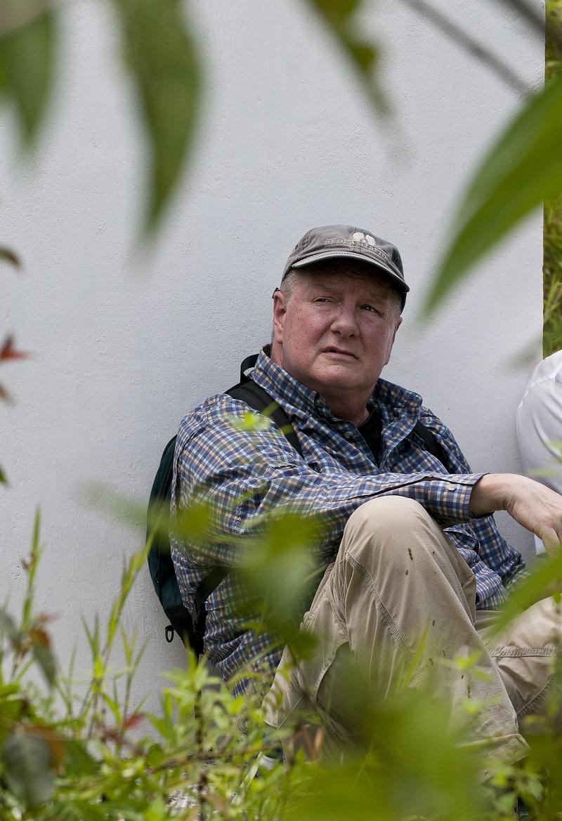 Photo: Jeff Guinn at the Jonestown memorial.