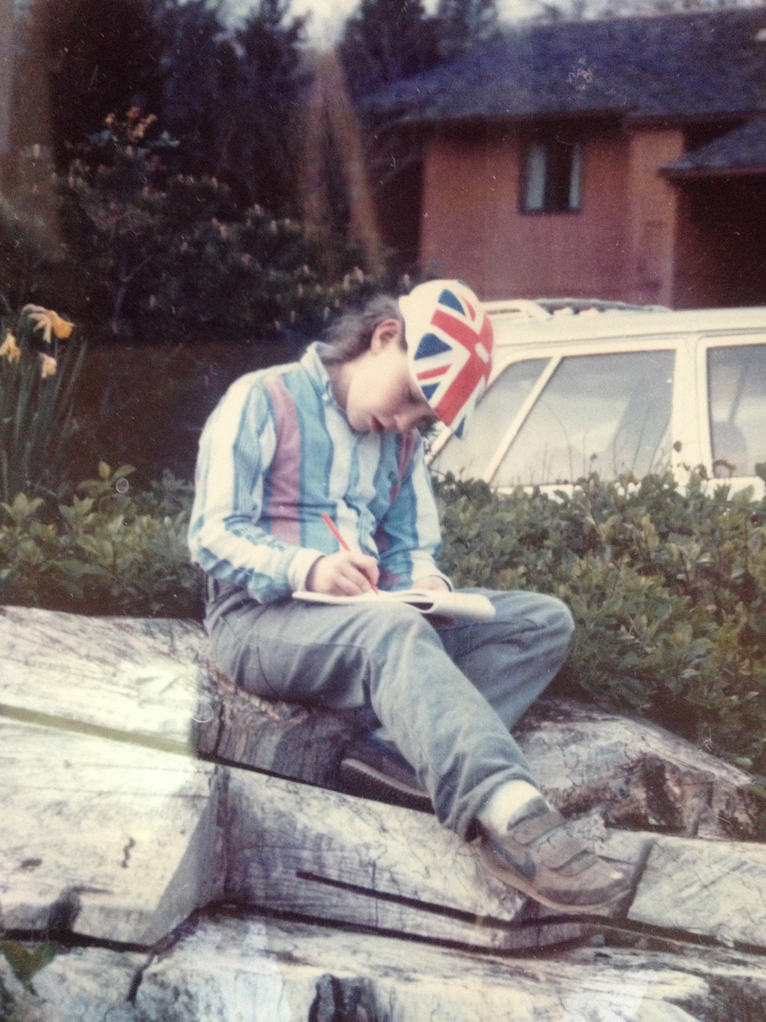 Photo: Arndt as a young writer.