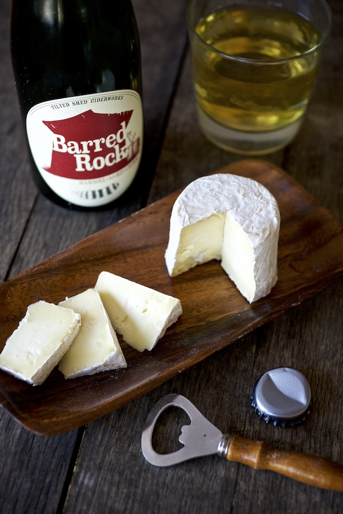 Kunik cheese with barrel aged cider.