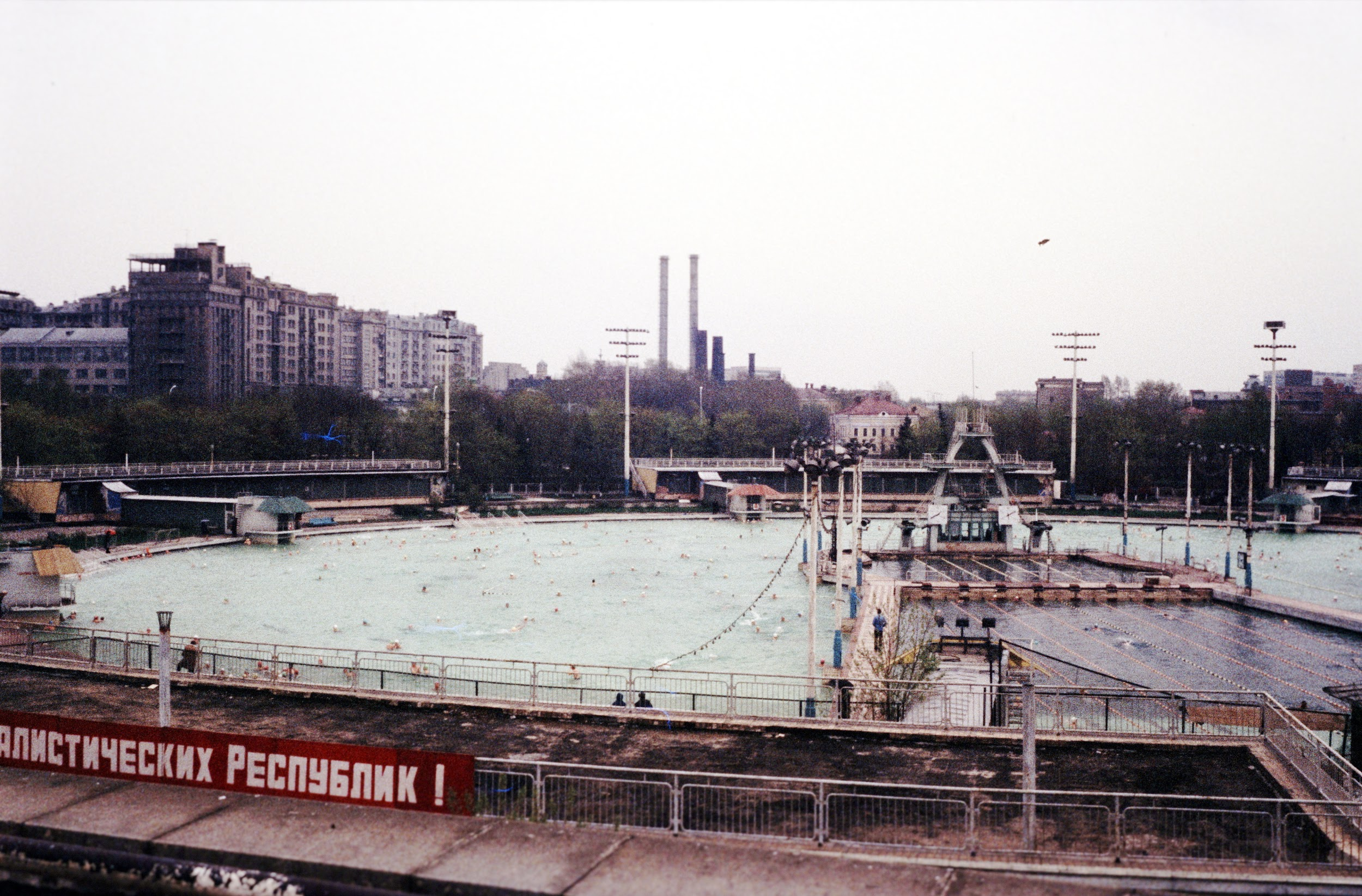 A large swimming pool.