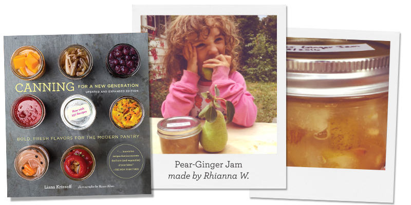 Canning for a New Generation; Pear-Ginger Jam, made by Rhianna W.