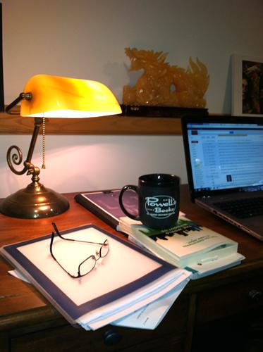 Lamp and Powell's Mug