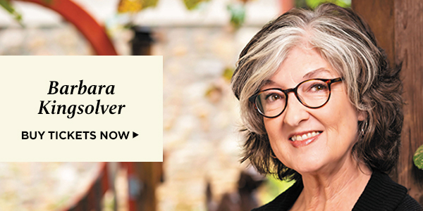 Barbara Kingsolver: Join us for a virtual event on October 4