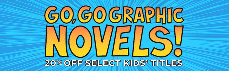 Save 20% on bestselling new and used kids' graphic novels