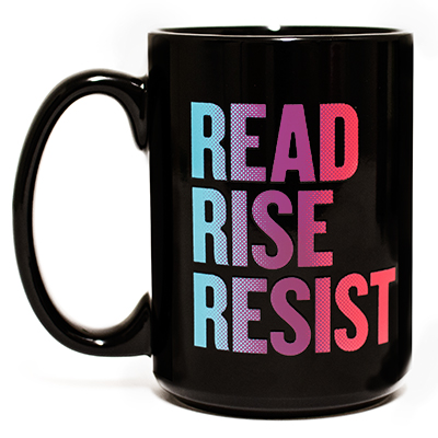 Read Rise Resist Blue Pink Mug