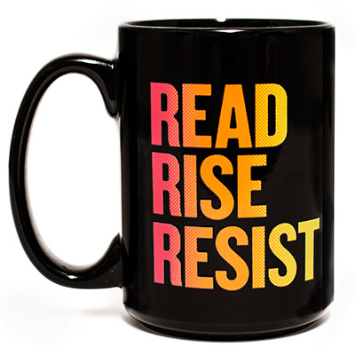 Read Rise Resist Pink Yellow Mug