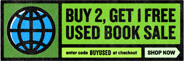 Buy 2, Get 1 Free Used Book Sale. Enter code BUYUSED at checkout