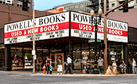 Photograph of Powell's City of Books on Burnside St. Portland Oregon