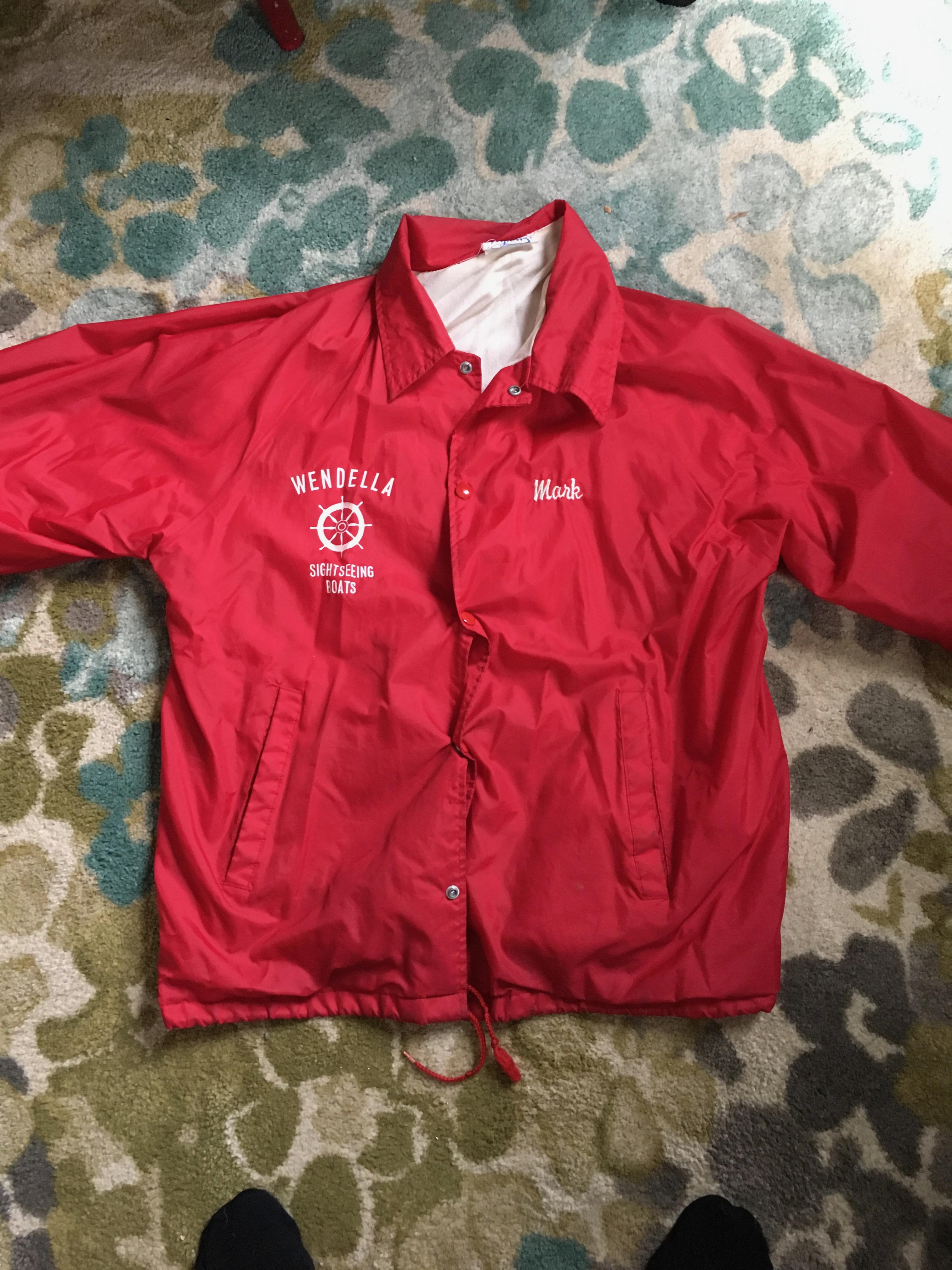 Jacket from summer job, circa 1988.