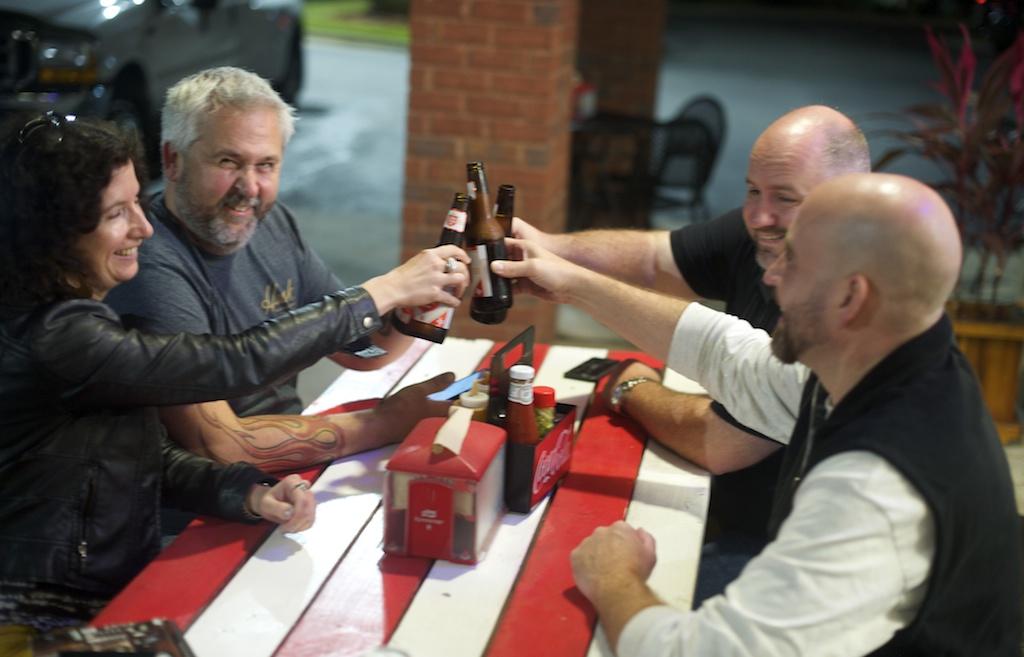 IMG: A group toast.