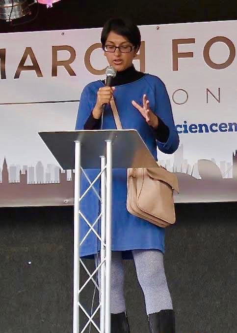 Photo: Angela Saini at the London March for Science.