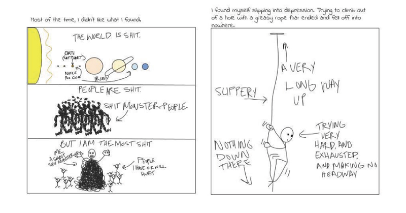 Matt Young's Comic for 'Eat the Apple', page three.